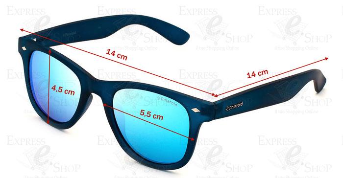 Occhiali da sole polaroid polarizzati lenti specchio blu 100 uv uomo donna ebay - Occhiali lenti blu specchio ...